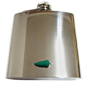 Green Chili Pepper Large Flask